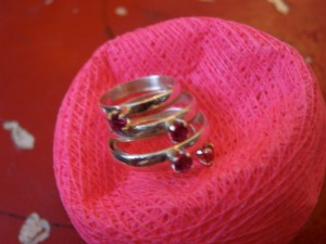 Ruby rings for little girls